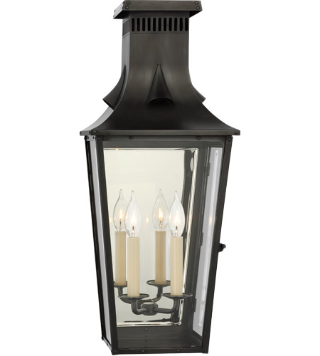 Visual Comfort Cho2531bc Cg Chapman Myers Belaire 2 Light 24 Inch Blackened Copper Outdoor Wall Lantern Medium