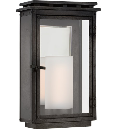 Visual Comfort CHO2604AI-CG Chapman & Myers Cheshire 1 Light 12 inch Aged Iron Outdoor Wall Lantern, Small photo