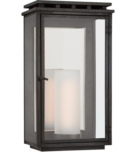 Visual Comfort CHO2605AI-CG Chapman & Myers Cheshire 1 Light 18 inch Aged Iron Outdoor Wall Lantern, Medium photo