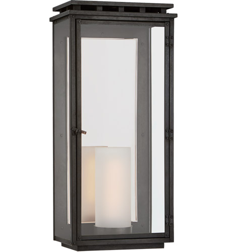 Visual Comfort CHO2606AI-CG Chapman & Myers Cheshire 1 Light 24 inch Aged Iron Outdoor Wall Lantern, Large photo