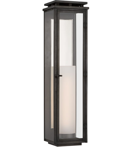 Visual Comfort CHO2607AI-CG Chapman & Myers Cheshire 1 Light 28 inch Aged Iron Outdoor Wall Lantern, Tall photo