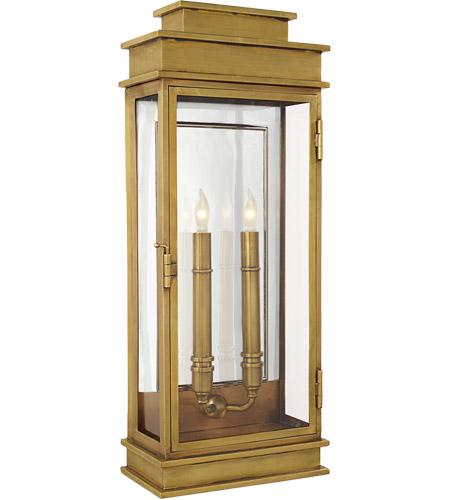 Visual Comfort CHO2910AB E. F. Chapman Linear Lantern 2 Light 23 Inch  Antique Brass Outdoor Wall Lantern
