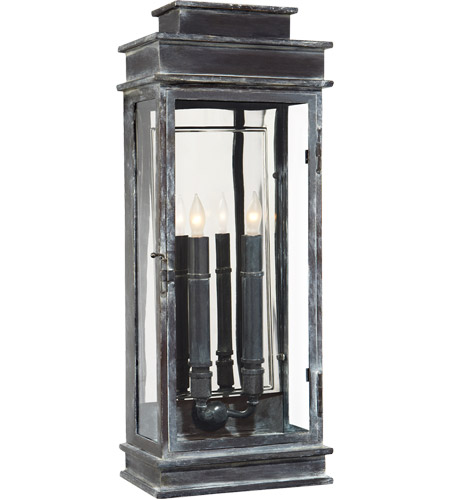 Visual Comfort CHO2910WZ E. F. Chapman Linear Lantern 2 Light 23 inch Weathered Zinc Outdoor Wall Lantern photo