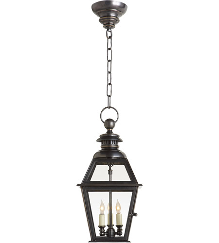 Visual Comfort E.F. Chapman Chelsea 3 Light Outdoor Hanging Lantern in Bronze CHO5003BZ photo