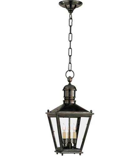 Visual Comfort E.F. Chapman Sussex 3 Light Outdoor Hanging Lantern in Bronze CHO5031BZ photo