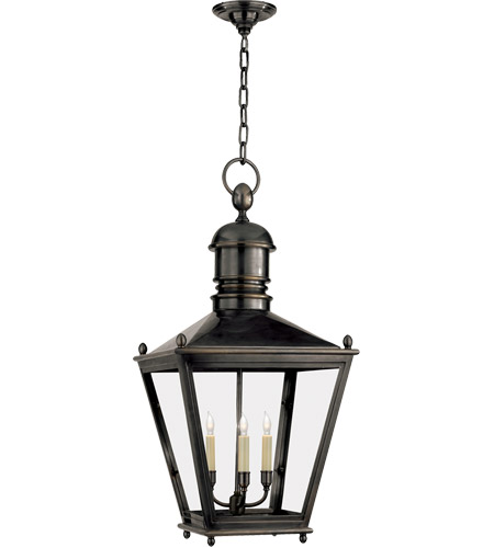 Visual Comfort CHO5033BZ E. F. Chapman Sussex 3 Light 16 inch Bronze Outdoor Hanging Lantern photo