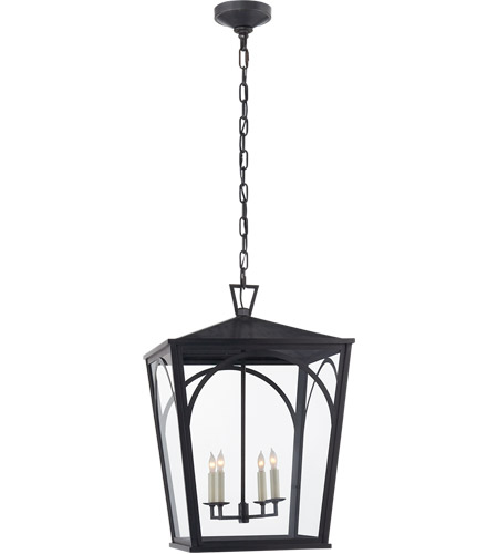 Visual Comfort Cho5311bz Cg E F Chapman Darlana 4 Light 17 Inch Bronze Outdoor Hanging Lantern Arc Large Clear Gl