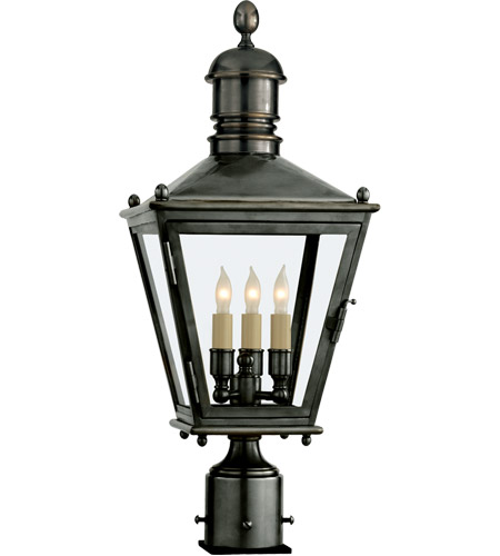 Visual Comfort CHO7031BZ E.F. Chapman Sussex 3 Light 24 inch Bronze Outdoor Post Lantern photo