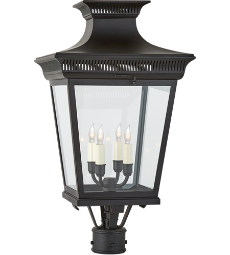 Visual Comfort CHO7055BLK-CG E. F. Chapman Elsinore 4 Light 27 inch Black Post Lantern, Medium photo
