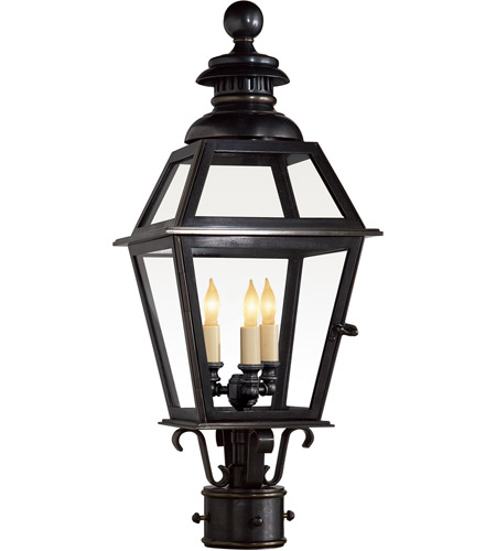 Visual Comfort CHO7110BZ E. F. Chapman Chelsea 3 Light 24 inch Bronze Outdoor Post Lantern photo