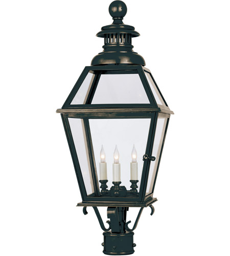 Visual Comfort E.F. Chapman Chelsea 3 Light Outdoor Post Lantern in Bronze CHO7111BZ photo