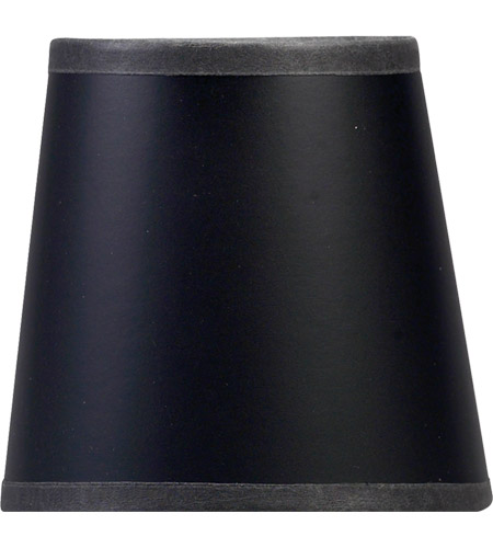 Visual Comfort Chart House Black Paper Candle Clip Shade CHS104B photo