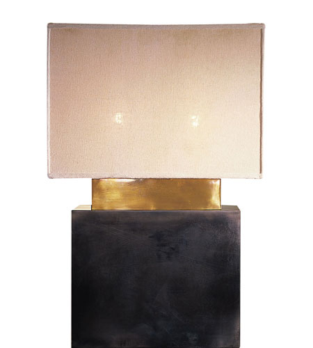 Visual Comfort Studio Clodagh Chelsea Rectangle Table in Bronze with Linen Shade CL3004BZ-L