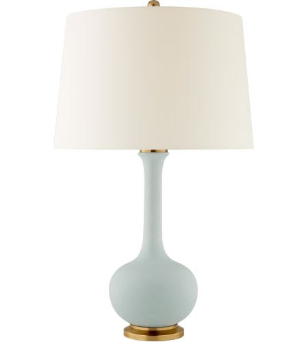Visual Comfort CS3611MSB-PL Christopher Spitzmiller Coy 32 inch 100 watt Matte Sky Blue Table Lamp Portable Light photo