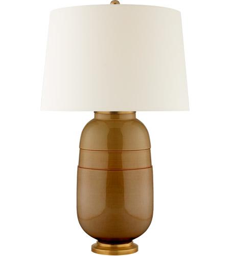Visual Comfort Cs3622dkh Pl Christopher Spitzmiller Newcomb 30 Inch 100 00 Watt Dark Honey Table Lamp Portable Light