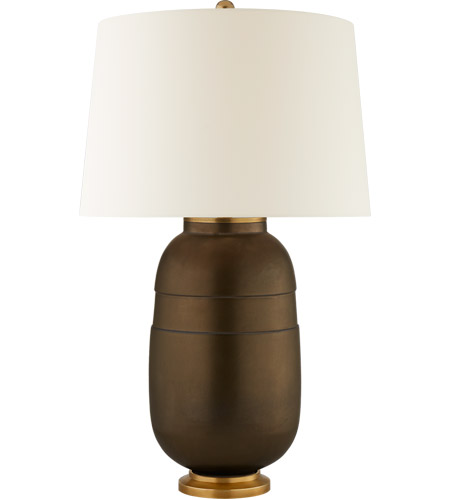 Visual Comfort CS3622MBZ-PL Christopher Spitzmiller Newcomb 30 inch 100 watt Matte Bronze Table Lamp Portable Light photo