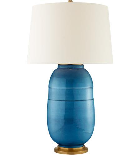Visual Comfort CS3623AQC PL Christopher Spitzmiller Newcomb 37 Inch 100  Watt Aqua Crackle Table Lamp Portable Light