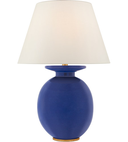 Visual Comfort Cs3658flb L Christopher Spitzmiller Hans 29 Inch 100 00 Watt Flowing Blue Table Lamp Portable Light Medium
