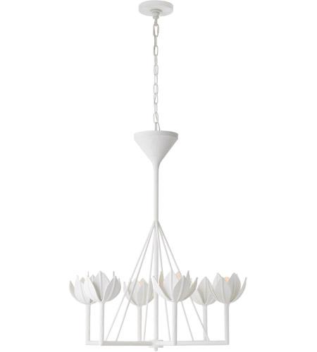 release date: 01113 e9674 Julie Neill Alberto 6 Light 30 inch Plaster White Chandelier Ceiling Light,  Small Single Tier