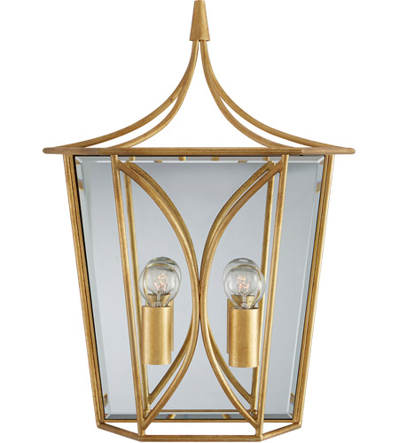 Visual Comfort KS2143G Kate Spade New York Cavanagh 2 Light 12 inch Gild Lantern Sconce Wall Light, Medium photo thumbnail