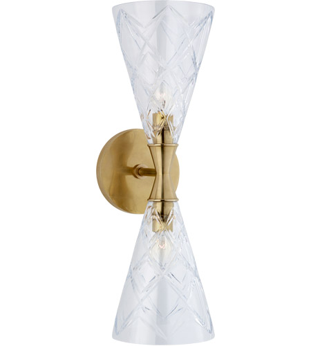 Visual Comfort KS2302SB-CG Kate Spade New York Darcy2 2 Light 6 inch Soft Brass Double Sconce Wall Light photo thumbnail