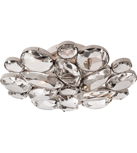 Visual Comfort KS4015PN-CG Kate Spade New York Lloyd 3 Light 13 inch Polished Nickel Round Flush Mount Ceiling Light, Medium photo thumbnail