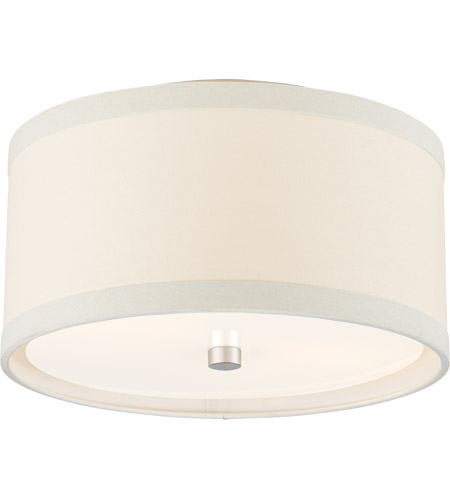 Visual Comfort KS4070BSL-L Kate Spade New York Walker 2 Light 14 inch Burnished Silver Leaf Flush Mount Ceiling Light, Small photo thumbnail