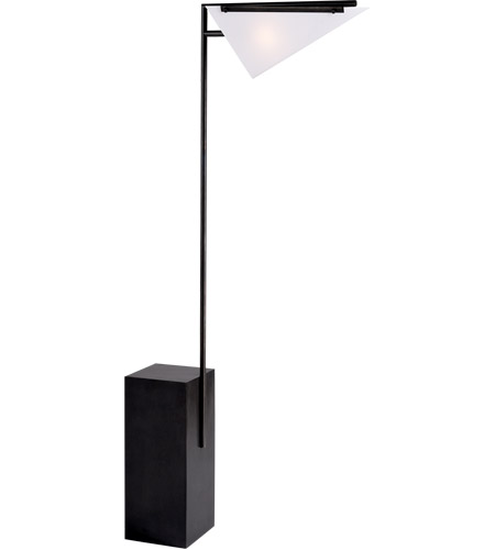 Visual Comfort KW1250BZ-WG Kelly Wearstler Forma 54 inch 40 watt Bronze Floor Lamp Portable Light, Kelly Wearstler, White Glass photo