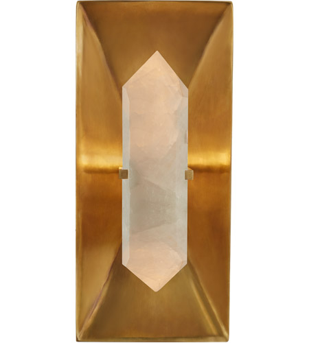 Visual Comfort KW2091AB/Q Kelly Wearstler Halcyon 1 Light 6 inch Antique Burnished Brass Sconce Wall Light, Kelly Wearstler, Rectangle, Quartz photo