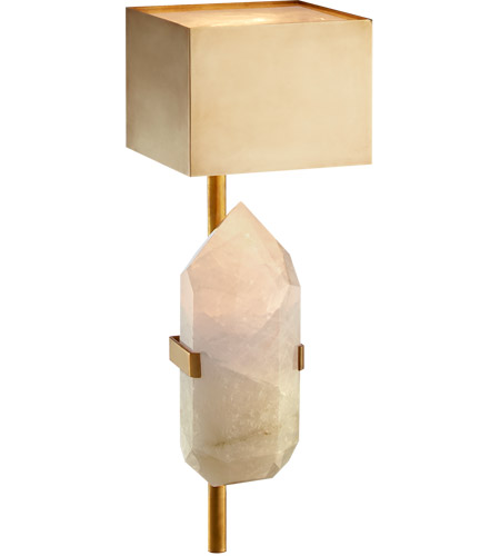 Visual Comfort KW2092AB/Q Kelly Wearstler Halcyon 1 Light 6 inch Antique Burnished Brass Sconce Wall Light, Kelly Wearstler, Quartz photo