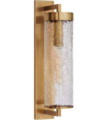 Visual Comfort Kw2123ab Crg Kelly Wearstler Liaison 1 Light 20 Inch Antique Burnished Brass Outdoor Wall Sconce Large Bracketed