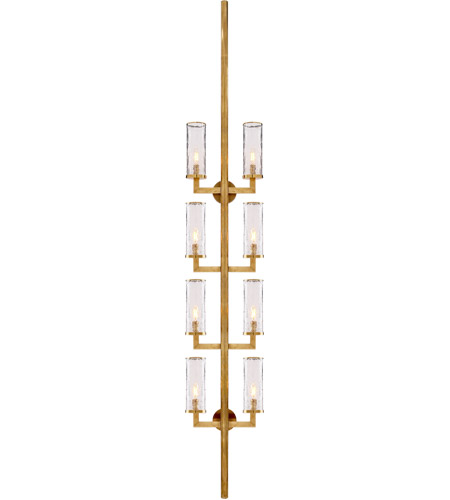 Visual Comfort KW2204AB-CRG Kelly Wearstler Liaison 8 Light 13 inch Antique-Burnished Brass Sconce Wall Light, Kelly Wearstler, Statement, Crackle Glass photo