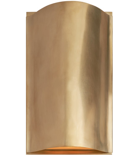 Visual Comfort KW2704AB FG Kelly Wearstler Avant LED 7 Inch  Antique Burnished Brass Wall Sconce Wall Light
