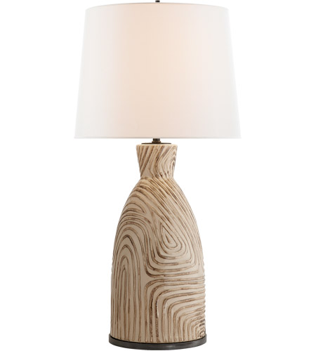 Gentil Visual Comfort KW3021SBU L Kelly Wearstler Effie 28 Inch 100 Watt Sand And  Blue Stripes Table Lamp Portable Light, Kelly Wearstler, Linen Shade