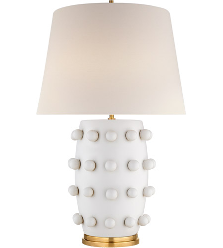 Visual Comfort KW3031PW-L Kelly Wearstler Linden 27 inch 75 watt Plaster White Table Lamp Portable Light, Medium photo