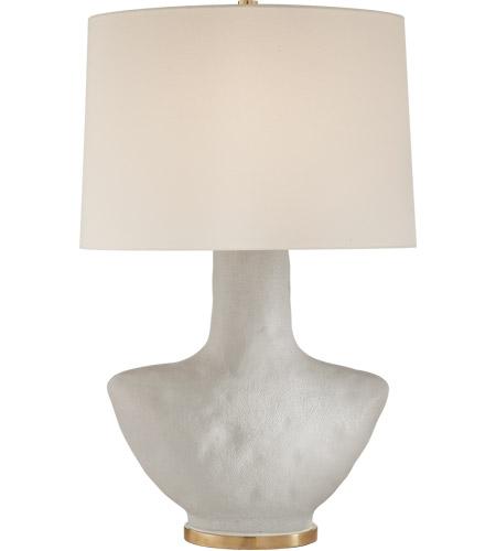 Visual Comfort KW3612PRW L Kelly Wearstler Armato 28 Inch 75 Watt Porous White  Porcelain Table Lamp Portable Light