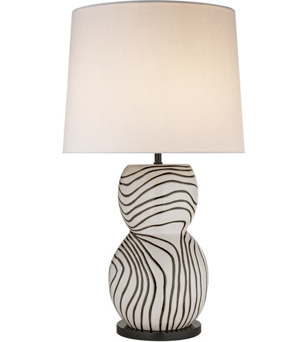 Visual Comfort KW3673WBS-L Kelly Wearstler Balla 34 inch 150 watt Plaster White Table Lamp Portable Light, Large Hand-Painted photo