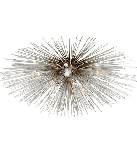 on sale 102fd 59263 Kelly Wearstler Strada 10 Light 40 inch Burnished Silver Leaf Flush Mount  Ceiling Light, Large