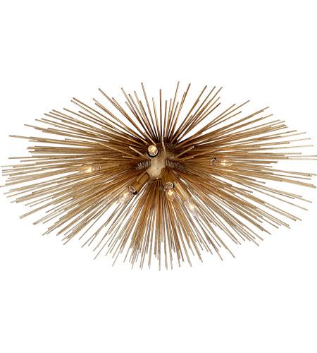visual comfort kw4071g kelly wearstler strada 10 light 40 inch gild flush mount ceiling light kelly wearstler large