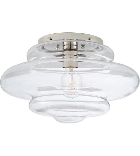 Visual Comfort Kw4271pn Cg Kelly Wearstler Tableau 1 Light 15 Inch Polished Nickel Flush Mount Ceiling Light In Clear Glass Medium