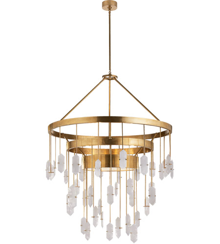 visual comfort kw5012abq kelly wearstler halcyon 6 light 36 inch antique burnished brass pendant