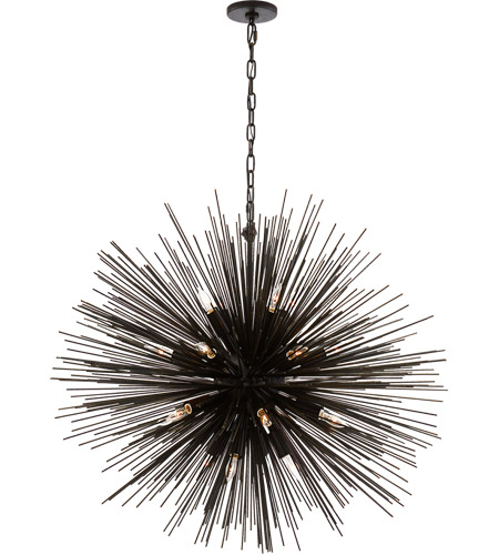 Visual Comfort Kw5072ai Kelly Wearstler Strada 20 Light 40 Inch Aged Iron Pendant Ceiling Large Round