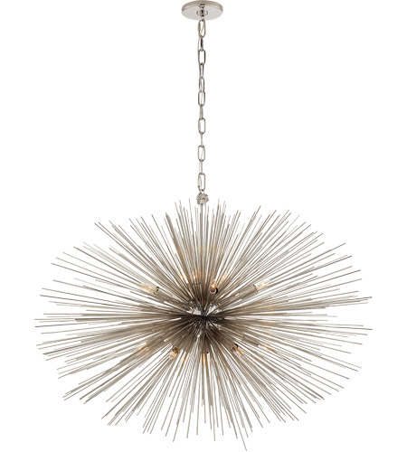 Visual Comfort KW5074PN Kelly Wearstler Strada 20 Light 38 inch Polished Nickel Pendant Ceiling Light, Kelly Wearstler, Medium, Oval photo