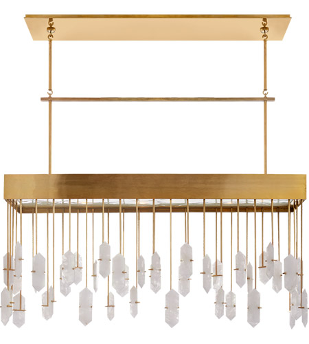 Visual Comfort KW5098AB-Q Kelly Wearstler Halcyon 12 Light 43 inch Antique Burnished Brass Linear Pendant Ceiling Light, Kelly Wearstler, Large, Quartz photo