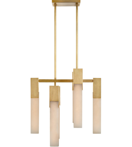 Visual Comfort KW5112AB-ALB Kelly Wearstler Covet LED 18 inch Antique-Burnished Brass Chandelier Ceiling Light, Small photo thumbnail