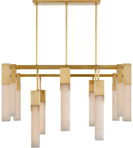 Visual Comfort KW5115AB-ALB Kelly Wearstler Covet LED 31 inch Antique-Burnished Brass Chandelier Ceiling Light, Large photo