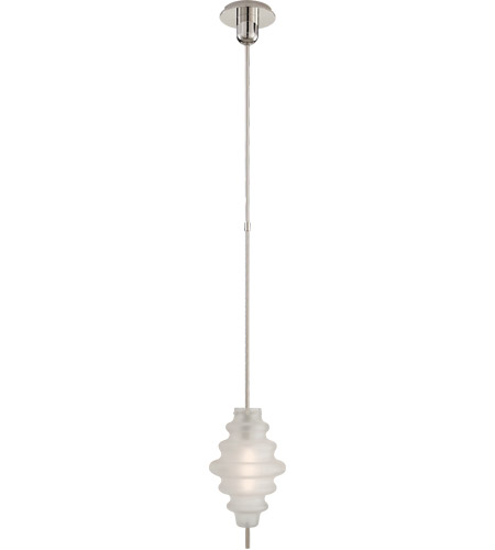 Visual Comfort KW5270PN-VG Kelly Wearstler Tableau 1 Light 7 inch Polished Nickel Pendant Ceiling Light in Volcanic Glass, Small photo
