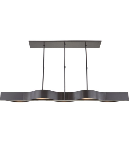 Visual Comfort Kw5523bz Fg Kelly Wearstler Avant 5 Light 60 Inch Bronze Linear Pendant Ceiling
