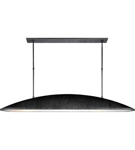 Visual Comfort KW5550AI-FA Kelly Wearstler Utopia 3 Light 60 inch Aged Iron Linear Pendant Ceiling Light, Kelly Wearstler, Large, Frosted Acrylic Shade photo