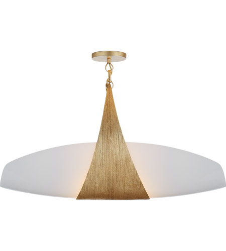 Visual Comfort Kw5553g Wg Kelly Wearstler Utopia 2 Light 28 Inch Gild Linear Pendant Ceiling Large White Glass